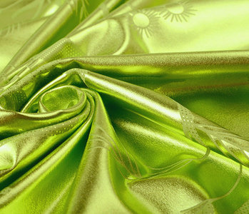 Lamé Bedrukt Lime Groen