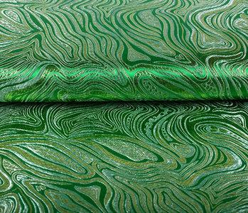 Brokaat Mazuri Waves Grasgroen