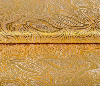 Brocade Mazuri Waves Yellow