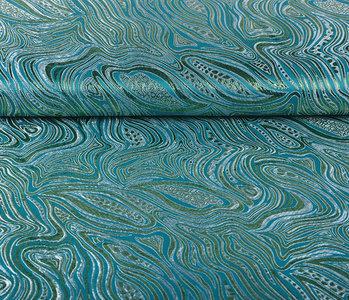 Brocade Mazuri Waves Aqua