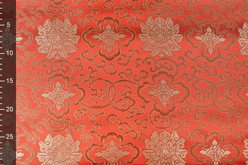 Brokaat Ornament Barok Rood