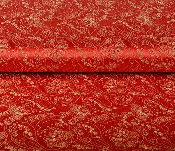 Brocade Hindiga Flower Red