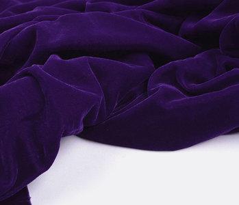 3 meter Velor Velvet Fabric Vultur Purple