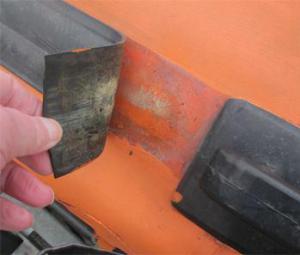 strips laten los rubberboot