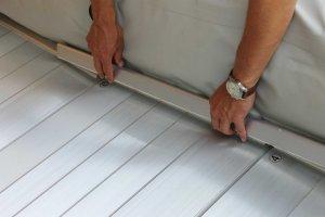 aluminium zijrails rubberboot