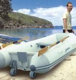 Massieve kunststof transportwielen voor rubberboot
