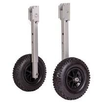 Opklapbare wielen voor rubberboot aluminium