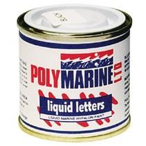 Liquid letters voor hypalon boten