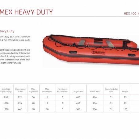 Talamex Talamex Heavy Duty HDX 500 rubberboot met aluminium vloerdelen