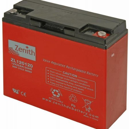 Zenith Zenith AGM Accu 12 volt 22 Ah