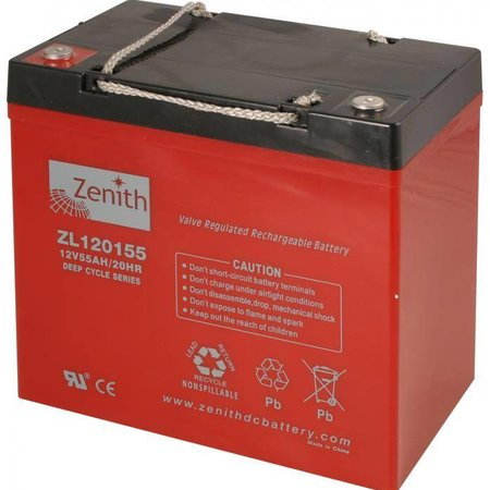 Zenith Zenith AGM Accu 12 volt 55 Ah