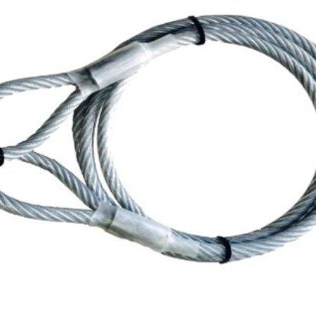 Geplastificeerde kabel met oog (3m)