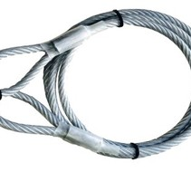 Geplastificeerde kabel met oog (5m)