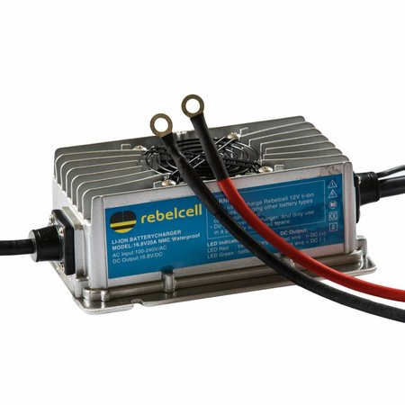 Rebelcell Rebelcell Acculader 16.8V20A Li-ion (IP67) waterdicht  (voor 12V50/ 12V100 Angling li-ion accu)
