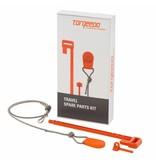 Torqeedo Reserve set: magneetsleutel, borgpen voor accu en fixeerpen voor Torqeedo Travel 1103/1003/503
