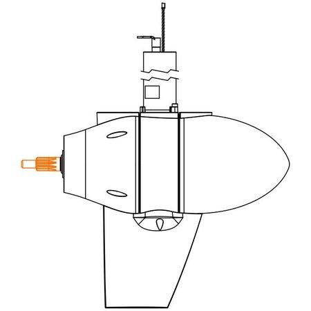 Torqeedo Propeller v13/p4000  Voor Cruise 2.0/4.0 vanaf 2017