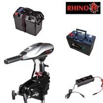 Rhino VX44 complete set met 105Ah accu, accubak en acculader
