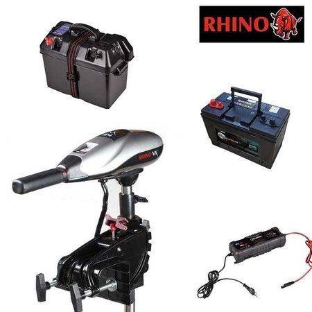 Rhino Rhino VX54 Fluistermotor complete set met 105Ah accu, accubak en acculader