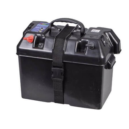 Minn Kota Minn Kota Endura 45 lbs fluistermotor set met 105Ah accu, accubak en acculader