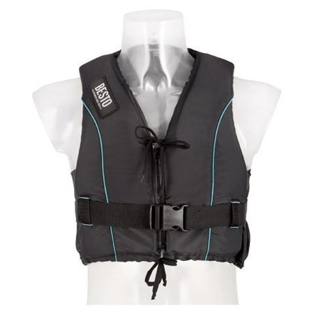 Besto Besto Dinghy Zipper All Black/Aqua 50N