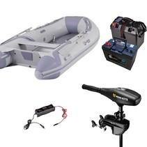 Talamex Highline 300 rubberboot met aluminium vloerdelen - Complete set met Minn Kota endura Max 50 LBS