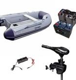 Talamex Comfortline 250 rubberboot met aluminium vloerdelen - Complete set met Minn Kota Endura C2  45 LBS fluistermotor