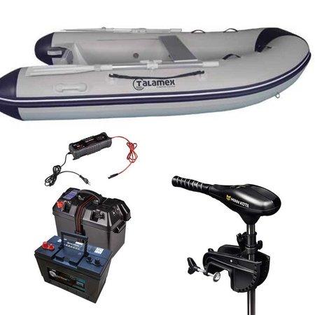 Talamex Comfortline 250 rubberboot met airdeck - Complete set met Minn Kota 45 LBS