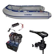 Lodestar NSA 300 Rubberboot - Complete set met Minn Kota 50 LBS