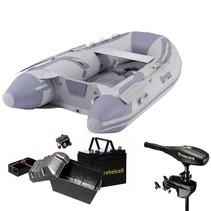 Talamex Highline 300 rubberboot met airdeck - Complete set met Minn Kota endura Max 55 LBS met lithium rebelcell accu