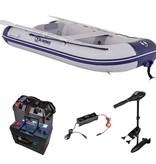 Talamex Comfortline 300 rubberboot met airdeck - Complete set met Talamex 58 LBS fluistermotor