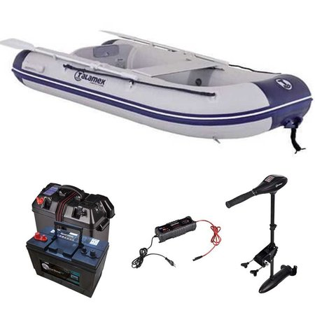 Talamex comfortline 250 rubberboot met airdeck - Complete set met Talamex 40 LBS fluistermotor