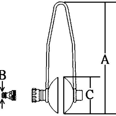 Doorspoelklem rubber voor de buitenboordmotor