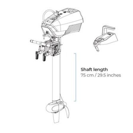 ePropulsion ePropulsion Spirit 1.0 R elektrische buitenboordmotor met afstandbediening
