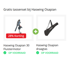 Haswing Actie: Gratis Fluistermotor Draagtas