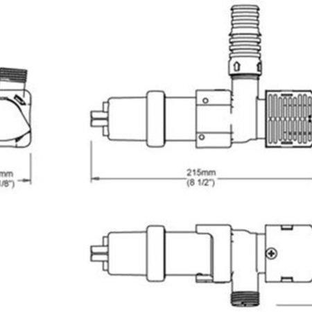 Whale Marine bilgepomp 12 volt Supersub smart 650