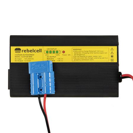 Rebelcell Acculader 12.6V10A li-ion Outdoorbox AV