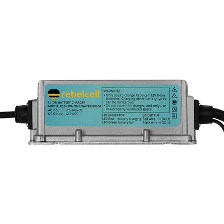 Rebelcell Rebelcell acculader waterdicht 12.6V20A li-ion AV (IP65)