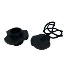 Opzetventiel zwart + Afsluitdop zwart