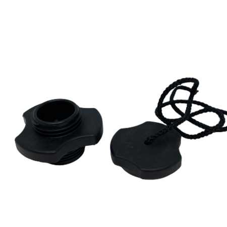 Zodiac Opzetventiel zwart + Afsluitdop zwart
