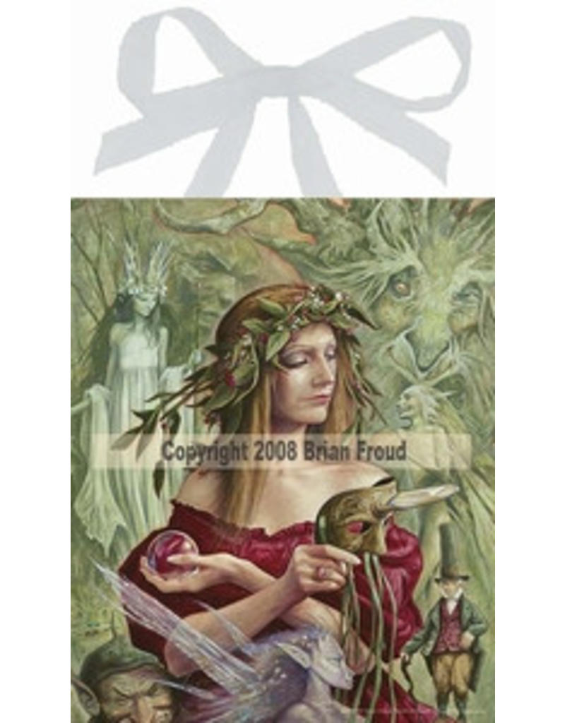 W.F. Peters Elfje wandtegel Lady of the Leprechauns (by Brian Froud)