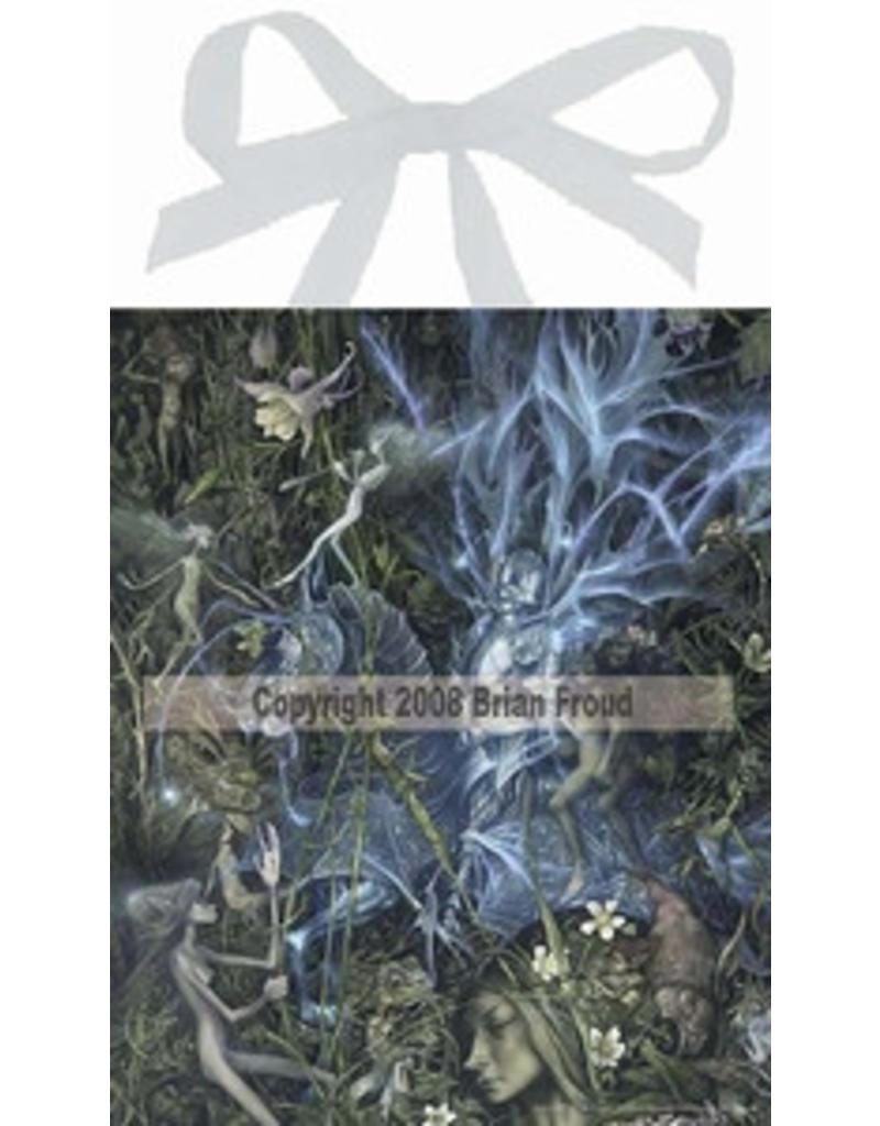 W.F. Peters Elfje wandtegel The blue Knight (by Brian Froud)