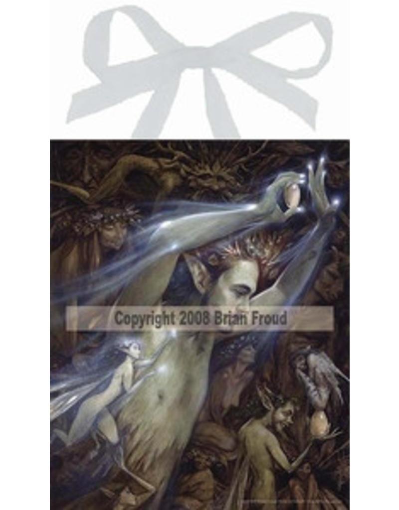 W.F. Peters Elfje wandtegel The fairie Egg (by Brian Froud)