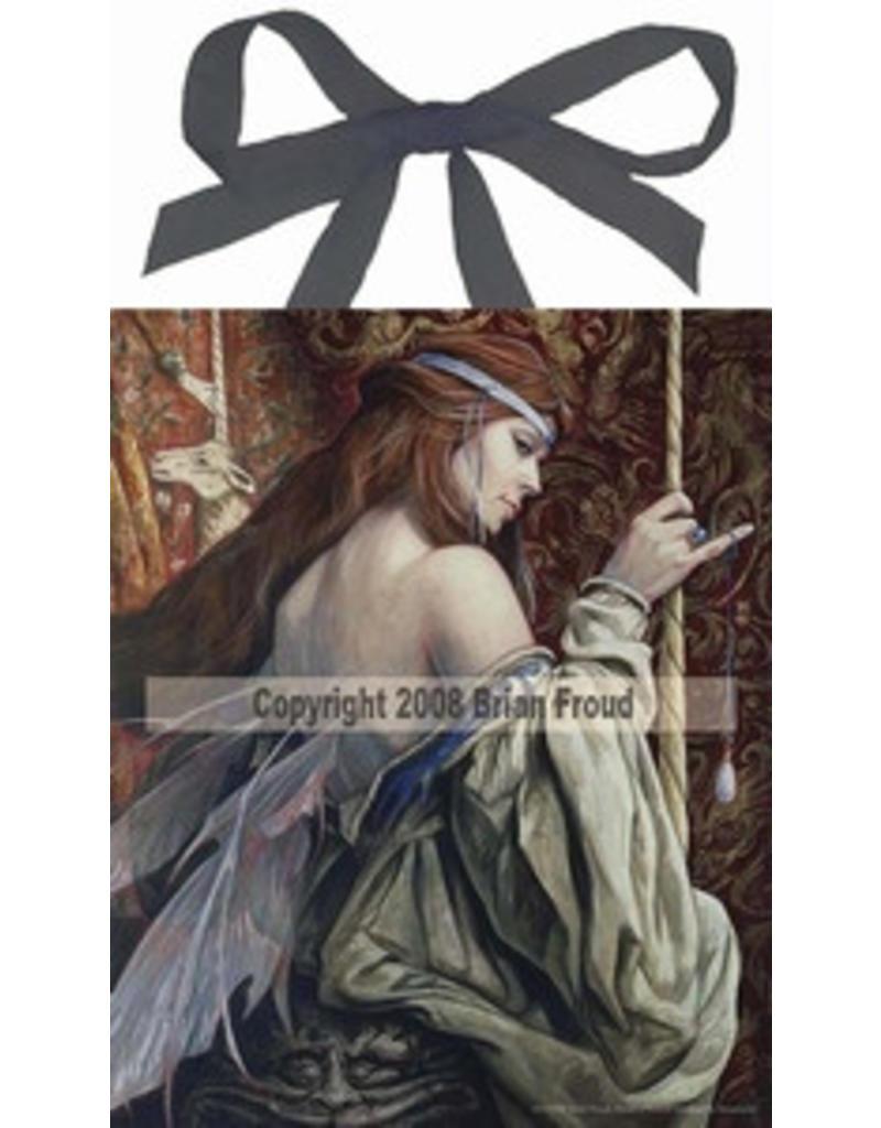 W.F. Peters Elfje wandtegel The unicorn Tapestry (by Brian Froud)