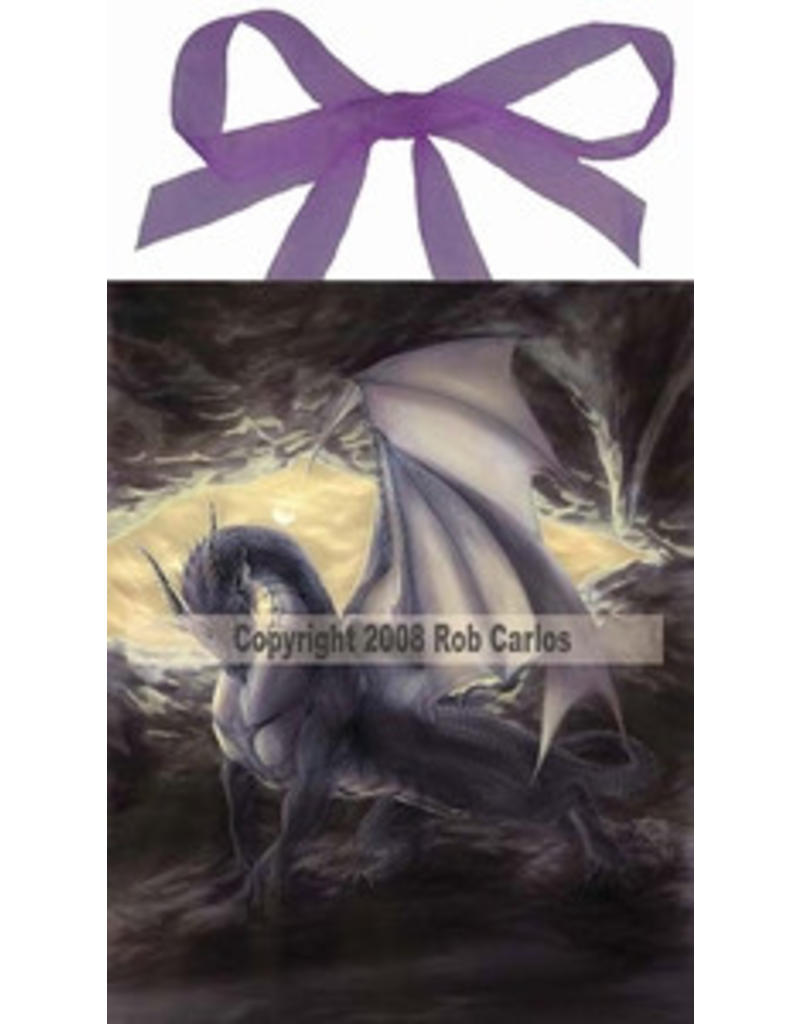 W.F. Peters Elfje wandtegel Cave dragon (by Rob Carlos)