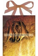 W.F. Peters Elfje wandtegel Dragonfire (by Rob Carlos)