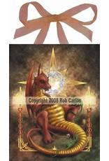 W.F. Peters Elfje wandtegel Stotyteller dragon (by Rob Carlos)