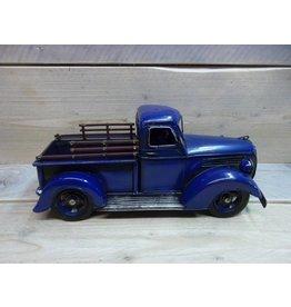 W.F. Peters Truck blauw 32x14,5x14,5 cm