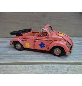 W.F. Peters Cabriolet roze 15x6x5,5 cm of groen