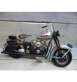 W.F. Peters Motor zwart/zilver 41x16x21 cm