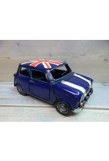W.F. Peters Auto mini blauw 23x11x10,5 cm